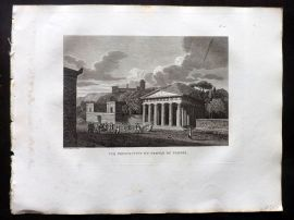 Barthelemy 1824 Antique Print. Vue Perspective du Temple de Thesee. Greece